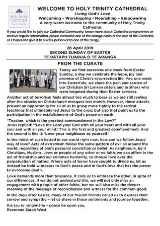 Newsletter 28 April