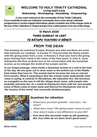 Newsletter 15 March