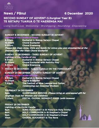 Newsletter - Sunday 6 december