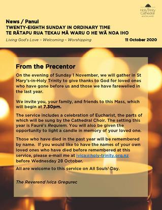 Newsletter - Sunday 11 October