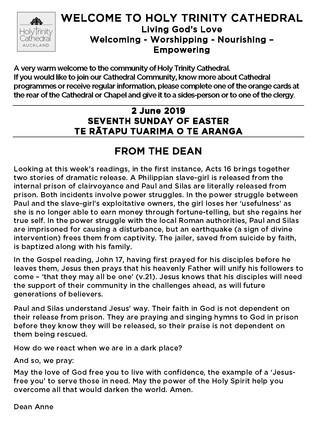 Newsletter 9 June