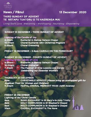 Newsletter - Sunday 13 december