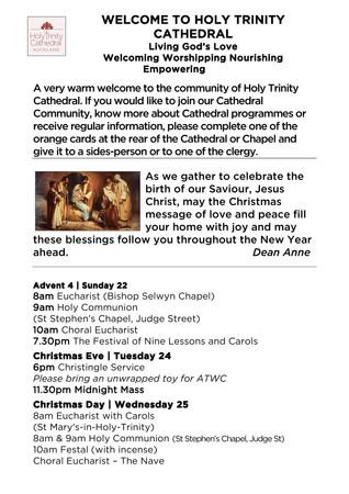 Newsletter 22 December