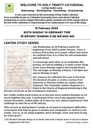 Newsletter 16 February