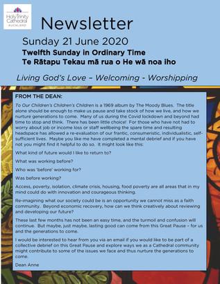 Newsletter - Sunday 21 June