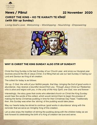 Newsletter - Sunday 22 november