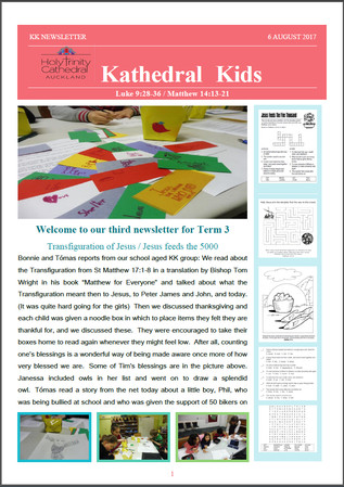 Kathedral Kids Newsletter 6 August 2017