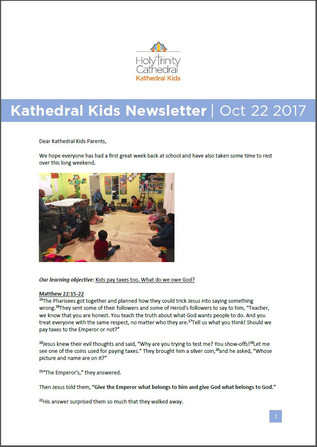 Kathedral Kids Newsletter 22 October