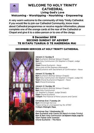 Newsletter 8 December