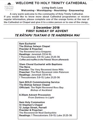 Newsletter 2 December, 2018