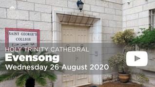 Evening Prayer - 5pm Wednesday 26 August