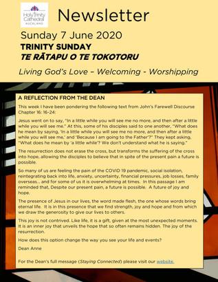 Newsletter - Sunday 7 June