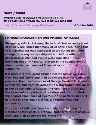 Newsletter - Sunday 18 October