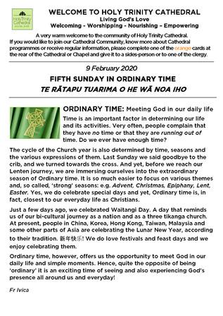Newsletter 9 February