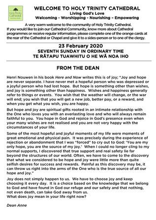 Newsletter 23 February