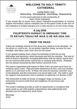 Newsletter 8 July, 2018