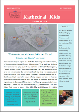 Kathedral Kids Newsletter 3 September 2017