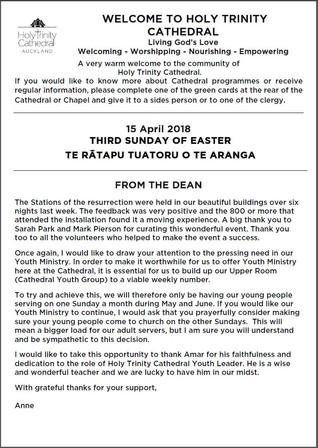 Newsletter 15 April, 2018