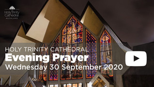 Evening Prayer - 5pm Wednesday 30 September