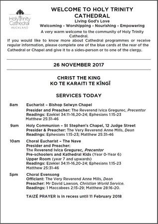 Newsletter 26 November, 2017