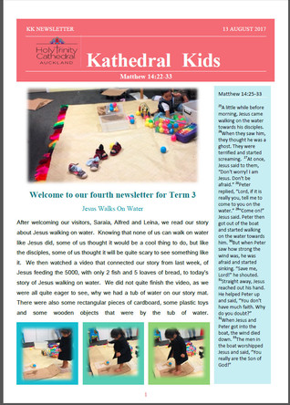 Kathedral Kids Newsletter 13 August 2017