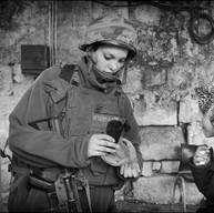 Hébron, 2007  Controle au checkpoint pour accéder au Caveau des Patriarches.