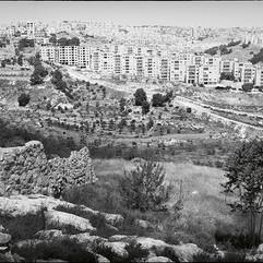 Une colonie israélienne vue de Beit Sahour