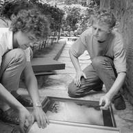 Jean-Luc Deru et Paul Den Hollander, Jardin de l'Arlatan, 1985