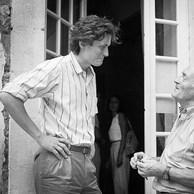 François Hebel et Raymond Desjardin à l'hôtel Arlatan, 1985