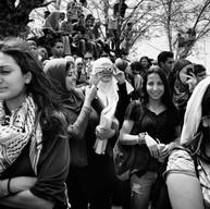 Birzeit, 2009  Le public assiste aux débats pour élire les représentants des étudiants de l'université.