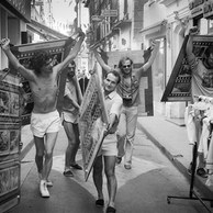 Transport du Parasol-Photo, Avec Jean-Luc Deru, aymond Lairin, Bernard Mairesse, Jean-Pierre Eloy, 1982