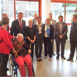 Inauguration du nouveau bâtiment en présence du Maire de Rouvres et de la Direction, partagée avec l