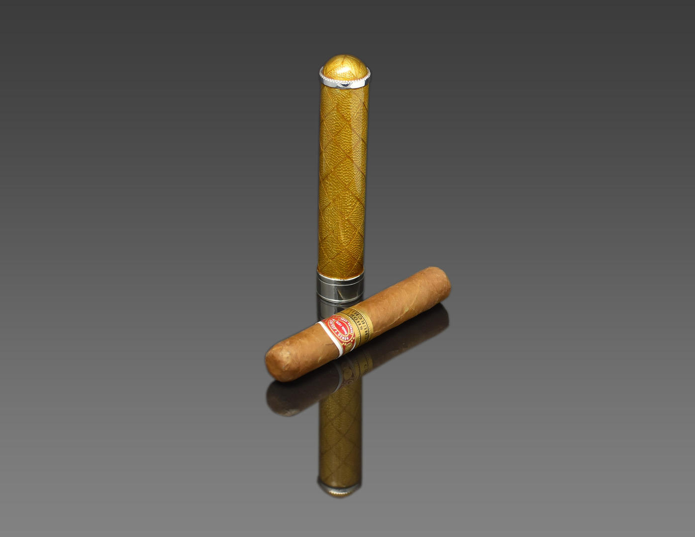 Gold cigar holder