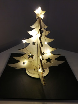 laser cutting plywood tree