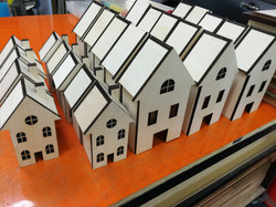 laser cutting plywood house