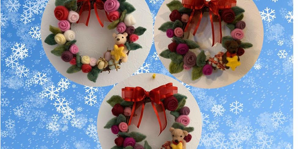羊毛フェルトを使って、大人なクリスマスリースを作りませんか?
