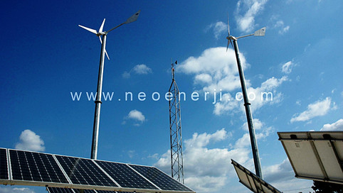 HYBRID WIND AND SOLAR DOUBLE AXIS