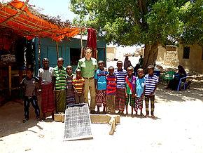 African children solar panel
