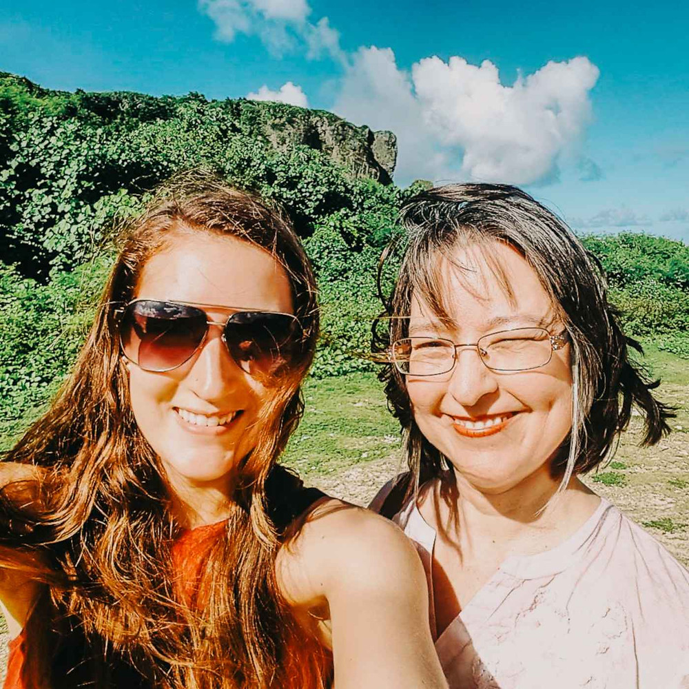 My mom and I on my parent's visit to Guam