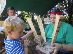 Stool making at Deer Shed