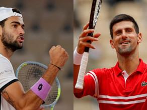 Berrettini cede a Djokovic, ma con onore