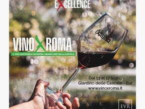 VINO X ROMA, il vino sostenibile incontra i grandi chef della capitale