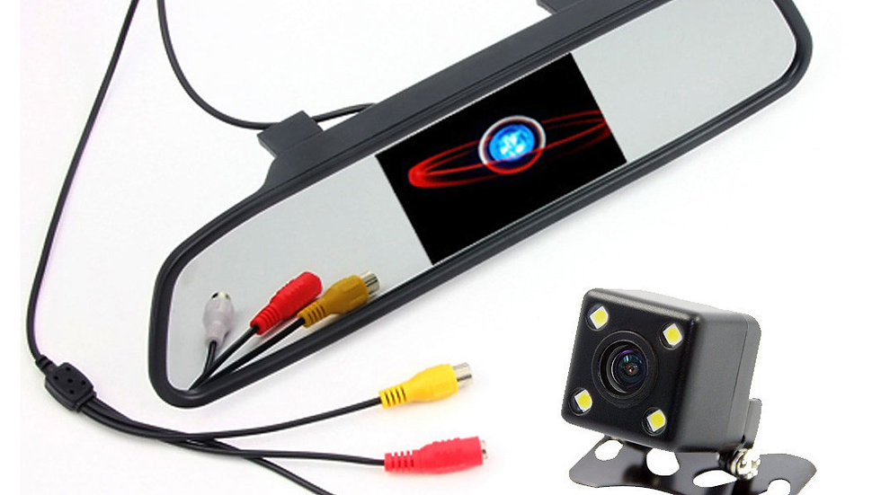 Reversing camera 4.3 inch LCD screen monitor car rear view mirror