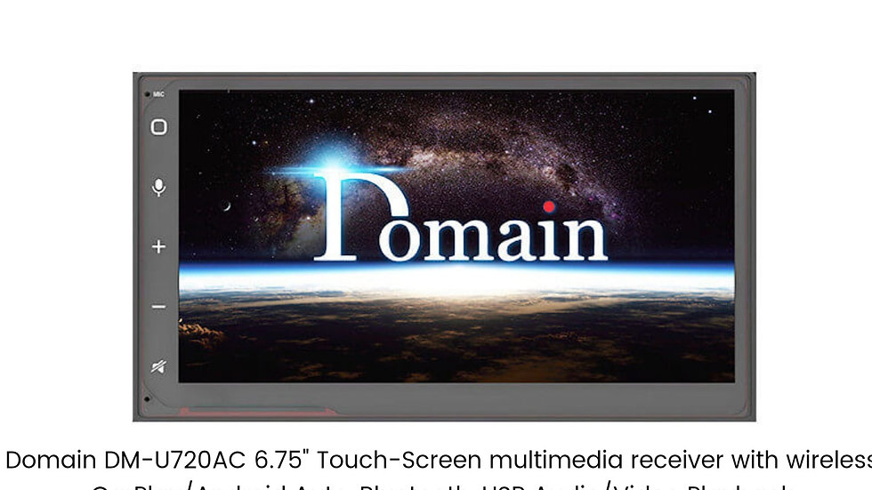 """Domain DM-U720AC 6.75"""" Touch-Screen multimedia receiver with wireless CarPlay/An"""