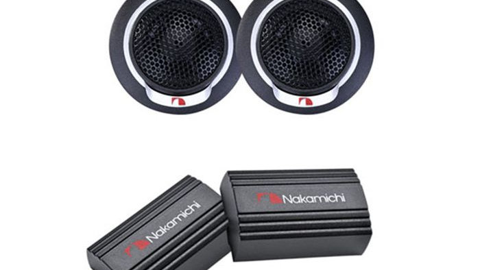 NAKAMICHI SPEAKERS 13MM 100W TWEETERS PAIR WITH CROSSOVER