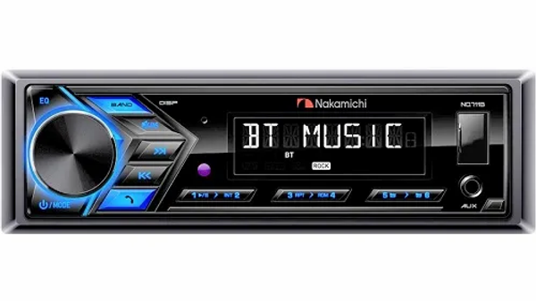 NAKAMICHI HEAD UNIT 1 DIN TUNER, USB, BLUETOOTH MECHLESS