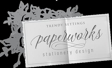 Wedding Menu - Trendy Settings Paperworks