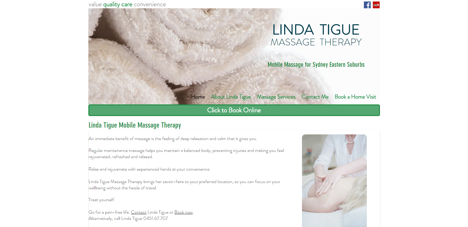 Linda Tigue Massage