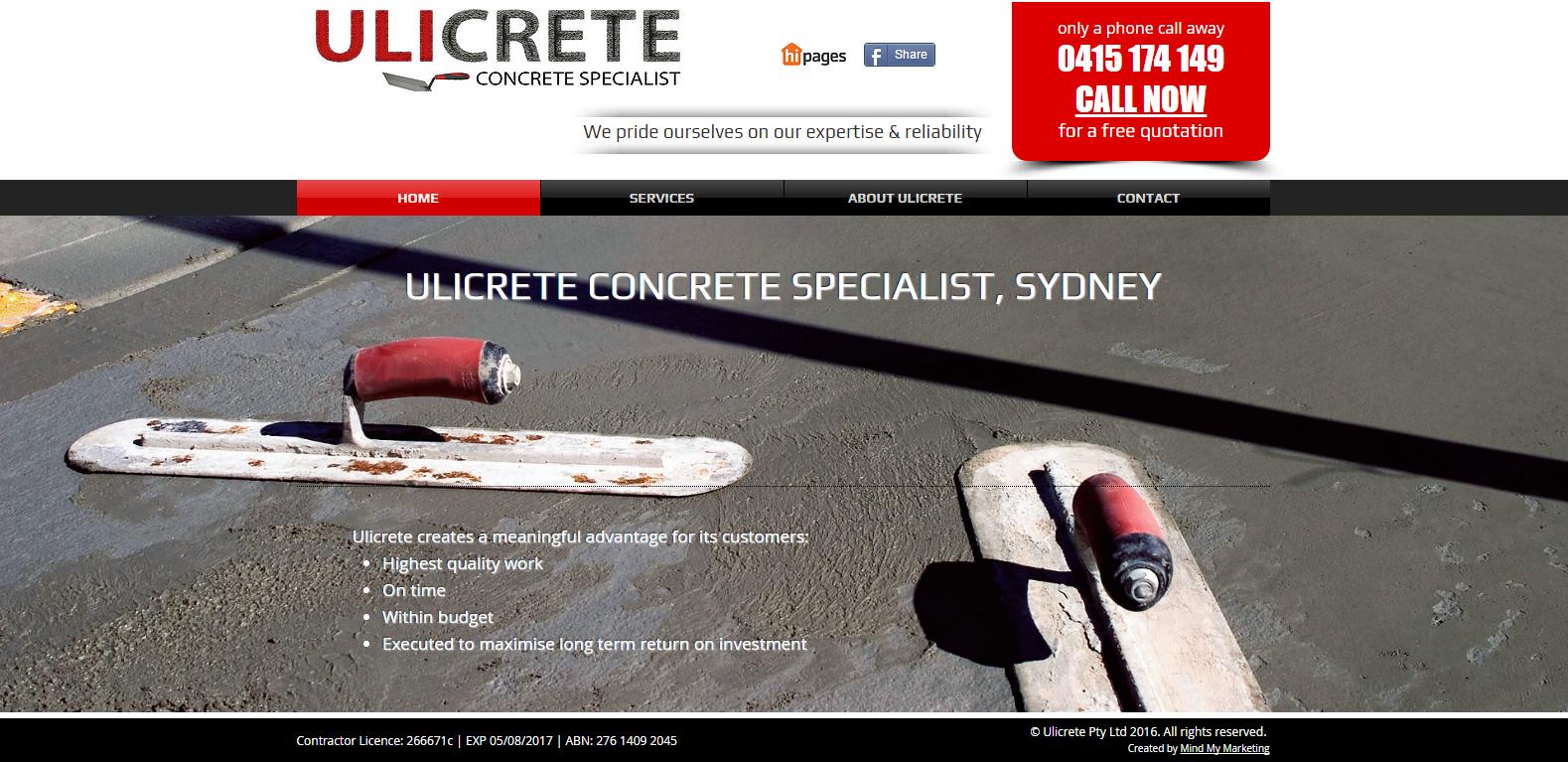 Ulicrete Concrete Specialist Sydney