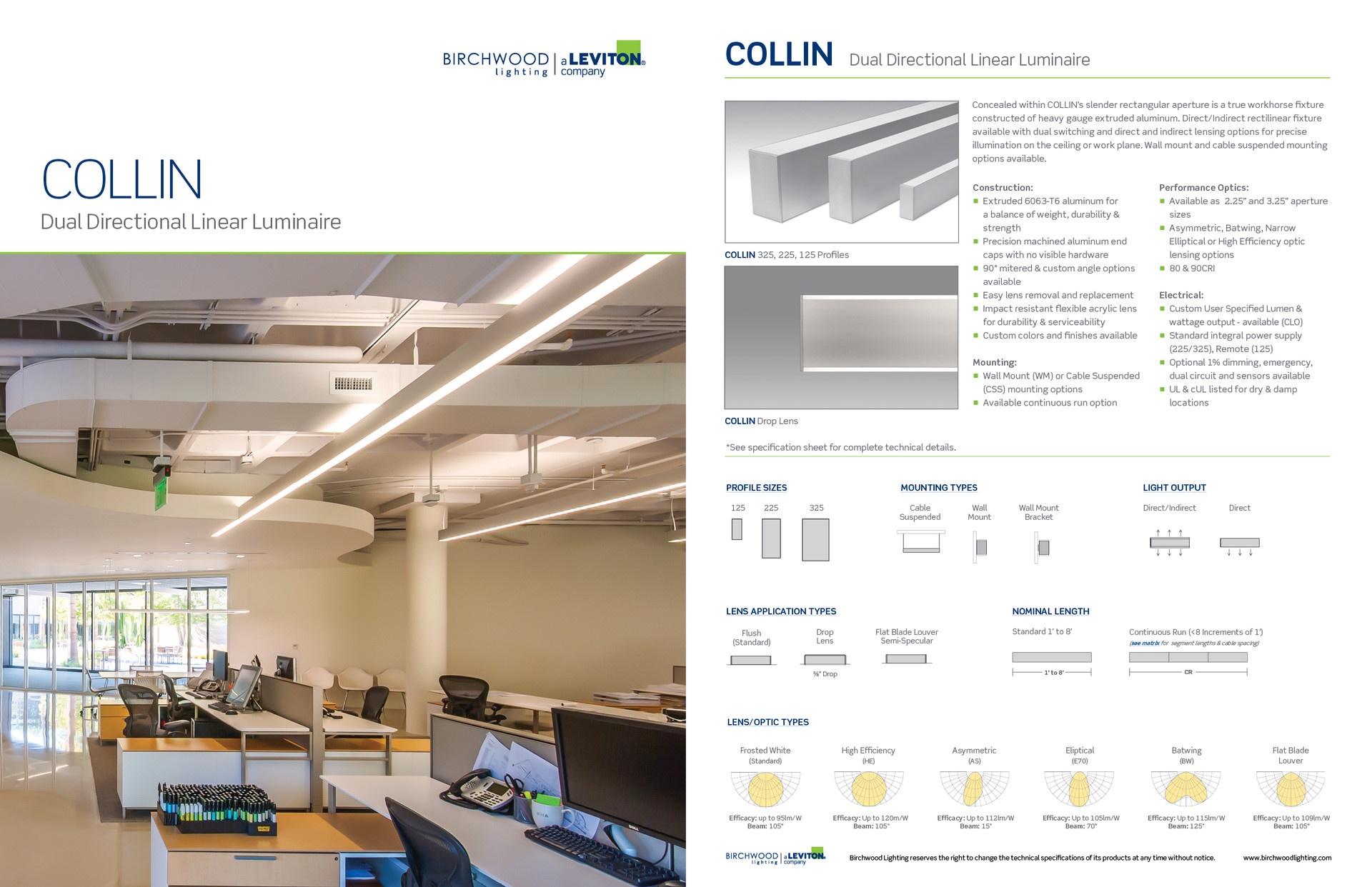 Collin Product Sell Sheet (Front and Back)